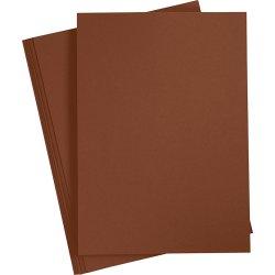 Paper Concept Karton, A4, 180g, 20 ark, kaffebrun