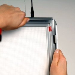 Snapframe dobbeltside LED ramme, 70x100 cm