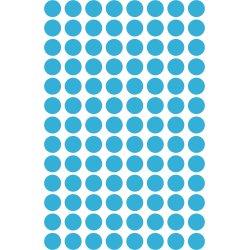 Avery 3011 manuelle etiketter, 8mm, blå, 416 stk