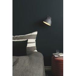Århus væglampe, Ø 18 cm, Sort/træ
