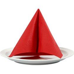 Happy Moments Frokostserviet, rød, 20 stk