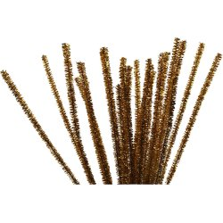 Chenille Piberensere 6 mm, guld, 24 stk