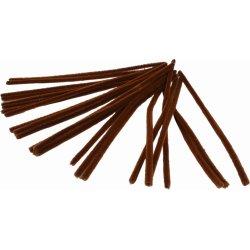 Chenille Piberensere 9 mm, brun, 25 stk