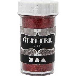 Glitterdrys, rød, 20 g