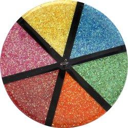 Glitterdrys, lyse farver, 6x13 g