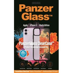 Panzerglass ClearCase sort cover til iPhone 11