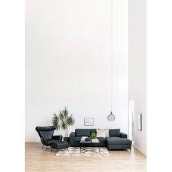 Alisma sofabord, Metal/Glas, Sort