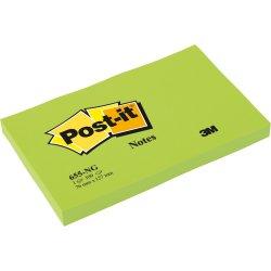 Post-it memoblok 76 x 127mm, neongrøn