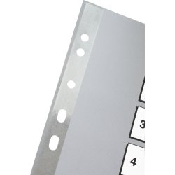 Esselte register A4, A-Å, plast, grå