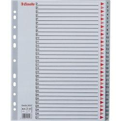 Esselte Maxi register A4, 1-31, plast, grå