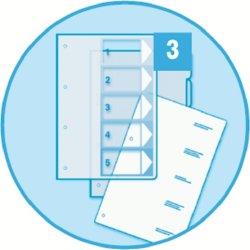 Esselte Maxi register A4, 1-10, til print