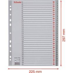 Esselte register A4, 1-31, plast, grå
