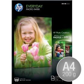 HP Q2510A blank inkjetfoto, A4/200g/100ark