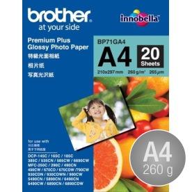 Brother Glossy inkjet fotopapir A4/260/20ark