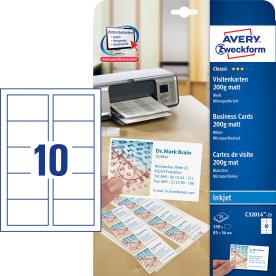 Avery C32014 visitkort, mat, inkjet, 200g