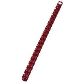 Fellowes plast spiralryg A4, 21 rings, 6mm, rød