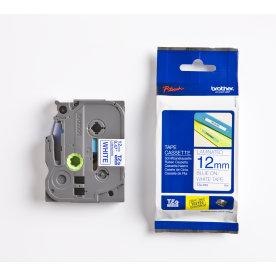 Brother TZe-233 labeltape 12mm, blå på hvid