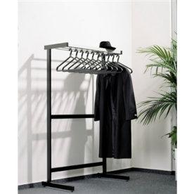 CP garderobestativ, 1-sidet m/hylde og 10 bøjler