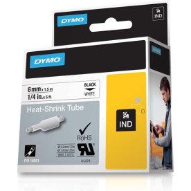 Dymo Rhinopro, 6 mm, krympeflex tape, hvid