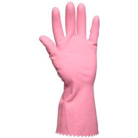 Gummihandsker medium, lyserød