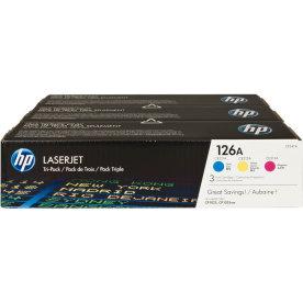 HP 126A/CF341A lasertoner, 1000s, tri-pack