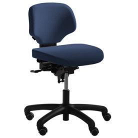 RH Activ 200 kontorstol lav ryg, medium sæde blå