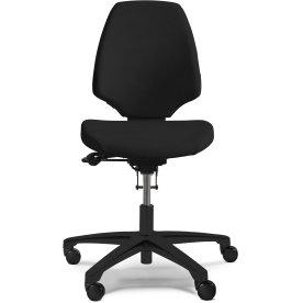 RH Activ 222 kontorstol høj ryg, bredt sæde sort