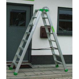 Wienerstige 2x10 - 80 mm dybe trin - Højde 2,39 m
