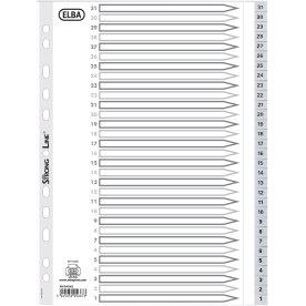 Elba Reversible register A4 31-1, PP, grå