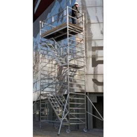 Rullestillads 135x245 inkl trapper - Højde 6,17 m