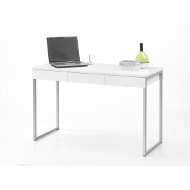 Function skrivebord m/ 3 skuffer hvid melamin