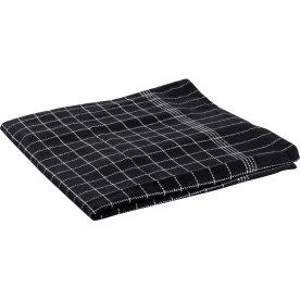 Viskestykke 50 x 70 cm, sort med hvide tern