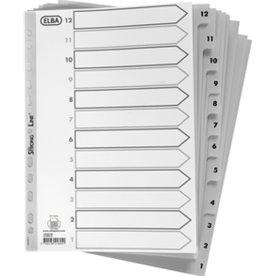 Elba Reversible register A4, 12-1, PP, grå