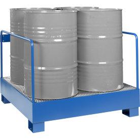Miljøstativ 4 tønder, 440 l, HxBxD 91x120x125, Blå