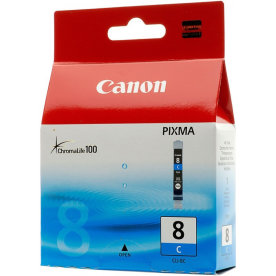 Canon CLI-8C blækpatron, blå, 420s