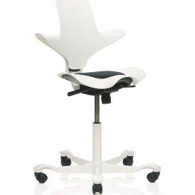 HÅG Capisco Puls White Edition Hvid m/sort sæde