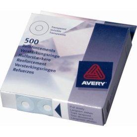 Avery Hulforstærker 500stk, hvid i dispenser