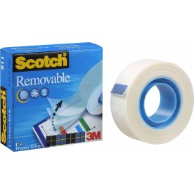 Scotch Magic 811 tape, aftagelig, 19mm x 33m