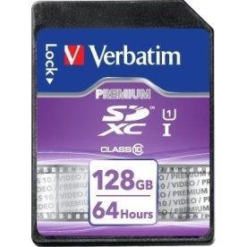 Verbatim SDXC 128GB Class 10 hukom. kort