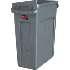 Rubbermaid Slim Jim affaldsbeholder, 60 liter, Grå