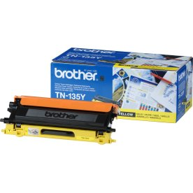 Brother TN135Y  lasertoner, gul, 4000s