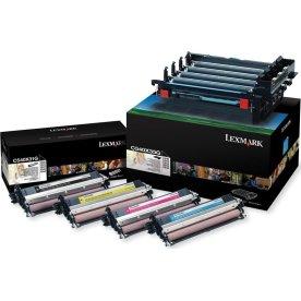 Lexmark C540X74G lasertromler sort og farve, 30000