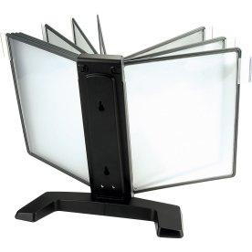 Infocenter bordmodel A4 med 20 lommer, sort