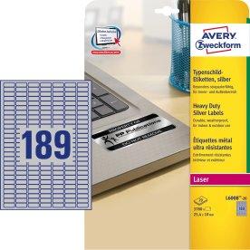 Avery L6008-20 stærke etiketter, 25,4 x 10mm