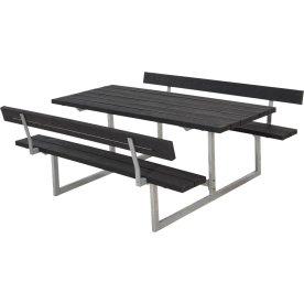 Plus Basic bord-bænkesæt m. ryglæn, Genbrugsplast