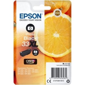 Epson 33XL blækpatron, foto-sort