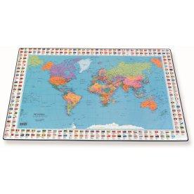 Bantex skriveunderlag 44 x 63cm, verdenskort