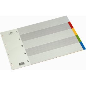 Bantex faneblade A3, 5-delt, PP, bredformat