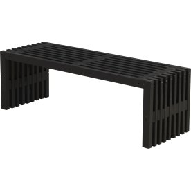 Plus Rustik Trallebænk, Sort,  L 138 cm