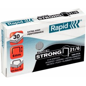 Rapid Super Strong 21/6 Hæfteklammer, 1000 stk.